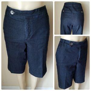 Bandolino Denim Dark Wash Bermuda Shorts